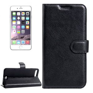 iPhone 7 Plus Leather Wallet Case Black