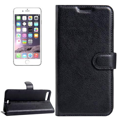iPhone 7 Plus Leather Wallet Case Black