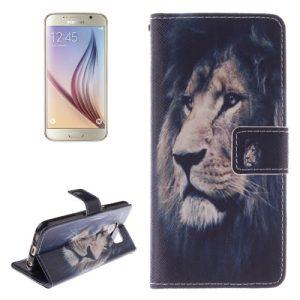 S6 Edge Wallet Case Lion