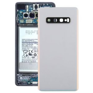 S10 Plus Back Cover with Camera Lense White